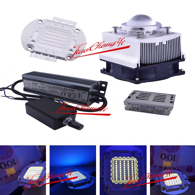 50W 365nm UV Ultra Violet High power LED +50w Dimmer driver 85-265VAC +heatsink,lens ...