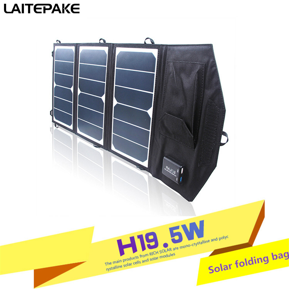 Portable 13W 20W 52W 5V Folding Foldable Waterproof Solar Panel Charger Mobile Power Bank for Phone Battery USB Port Outdoor allpowers 18v 21w usb solar power bank camping travel folding foldable outdoor usb solar panel charger for mobile phone laptop