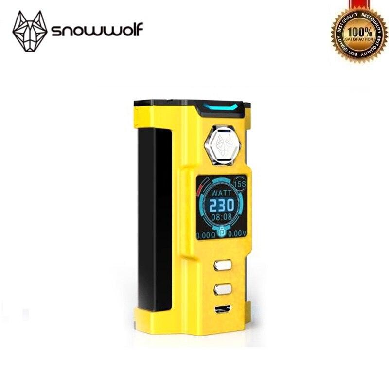 100% Original Sigelei Snowwolf VFeng 230 W Mod grand O LED affichage lumière LED Vape TC 18650 boîte Mod Fit Mods de cigarettes électroniques - 6