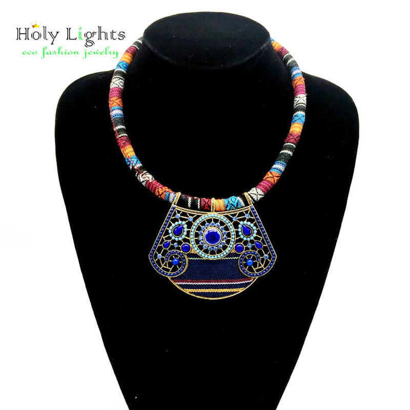 2017 New lady bohemian statement choker necklace multicolor s