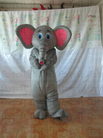 Big Ear Elephant Mascot Costume New Polyfoam Head Elephant Costumes