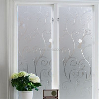 2017 60*100 cm Frosted Privacidad Estático Cling Glass Window Film Adhesivo En Relieve Etiqueta de la Ventana Decoración Espejo Tocador