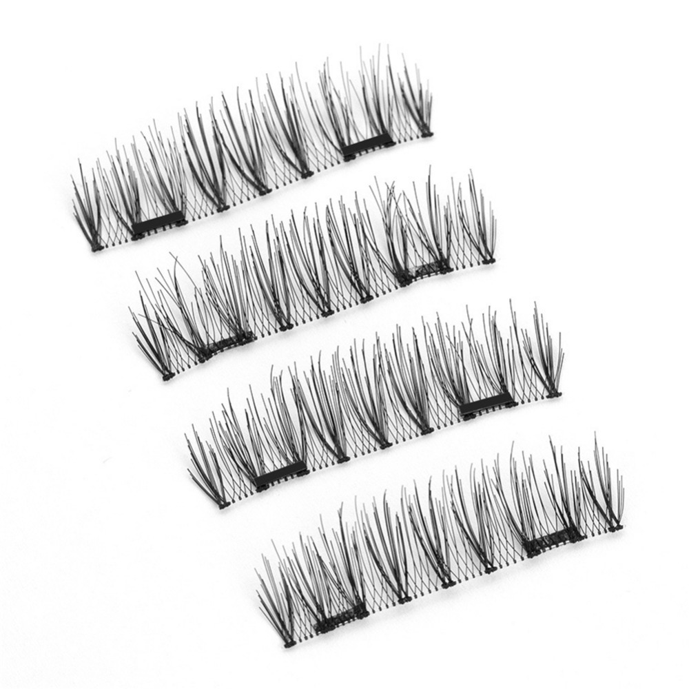 3 Magnet 3D Magnetic Eyelashes Magnet Lashes Thicker Reusable False Eyelashes Handmade No Glue Eye Lashes Makeup Kit KS-03