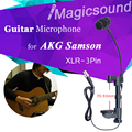 70-93mm Thickness Acoustic Guitar Microphone !! Professional Wooden Guitar Mic for Wireless Bodypack System AKG Samson XLR-3Pin
