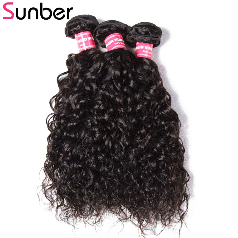 SUNBER HAIR Peruvian Water Wave Hair Bundles 3pcs lot Remy Hair 8 to 26 Inch 100