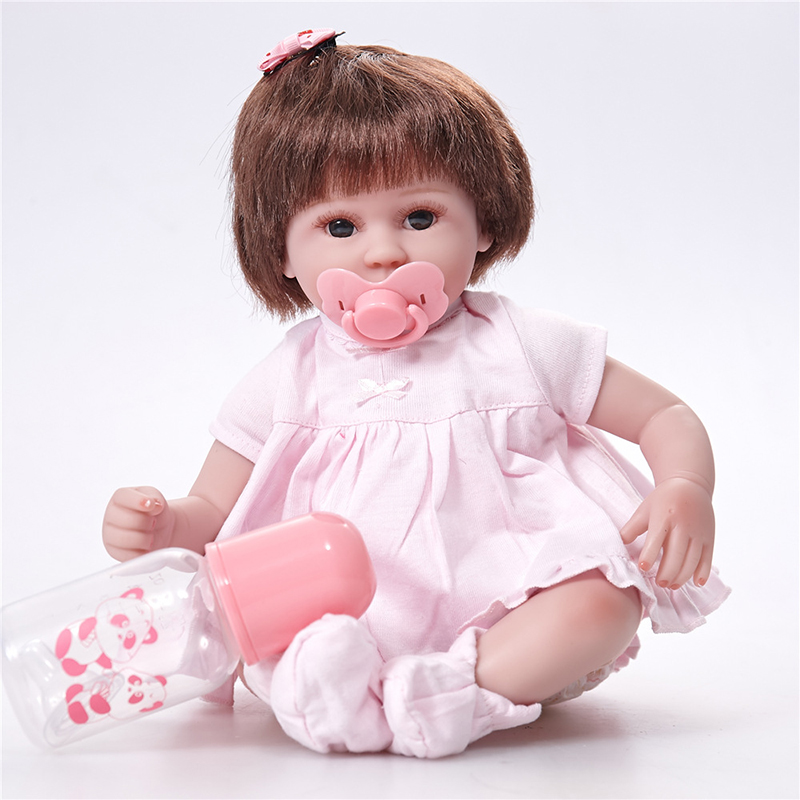 Silicone Reborn Baby Doll Toys 42cm Princess Toddler Babies Like Alive Bebe Girls Brinquedos Limited Collection Birthday Gift
