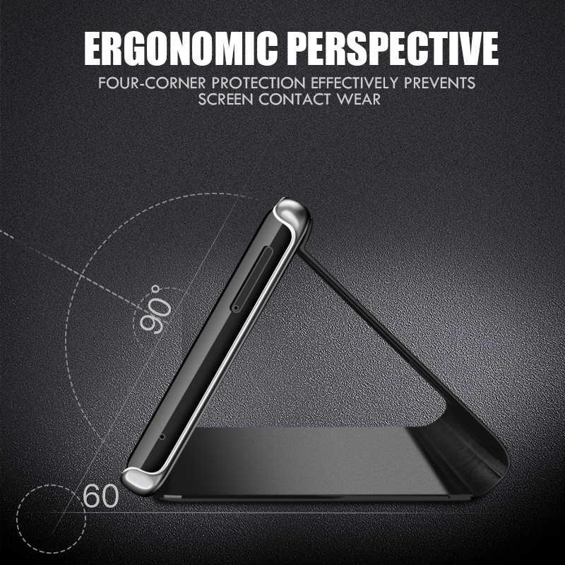Умный зеркальный флип-чехол для телефона Xiaomi Mi 9 SE 8 A1 A2 Lite 5X 6X Прозрачный чехол для Redmi Note 7 6 5 Pro 4 4A 4X 6A 5A Prime