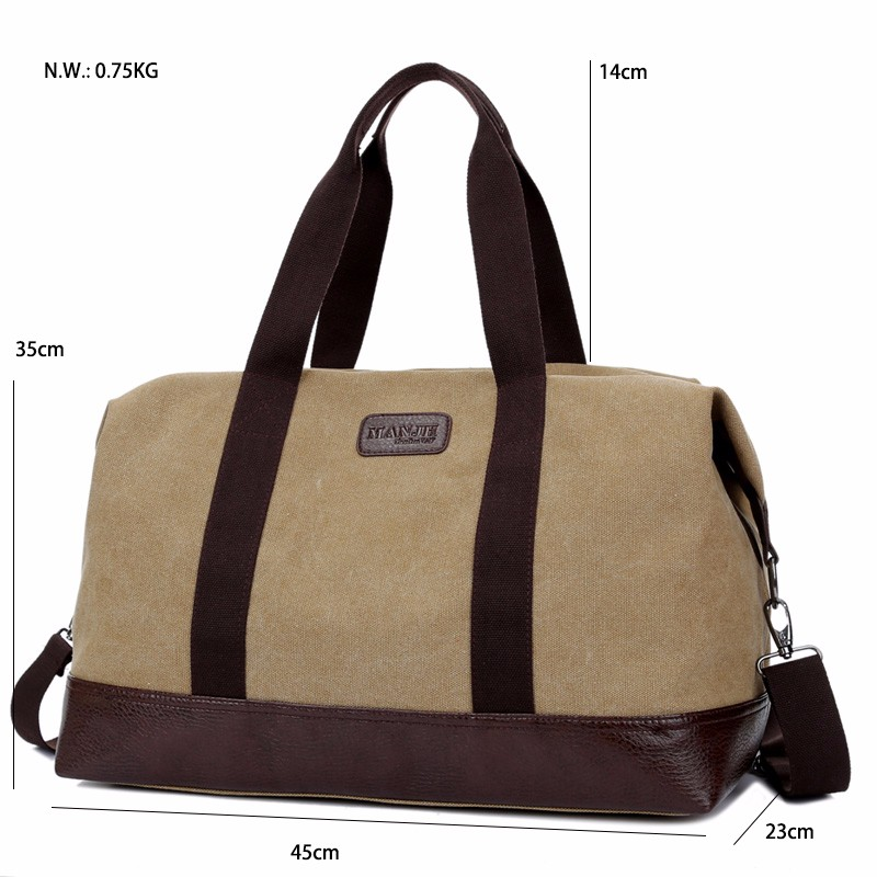 Hot Sales Large Capacity Canvas Travel Bags Men Portable Single Shoulder Bag storaging Ancient Ways Working Out The Package (27)