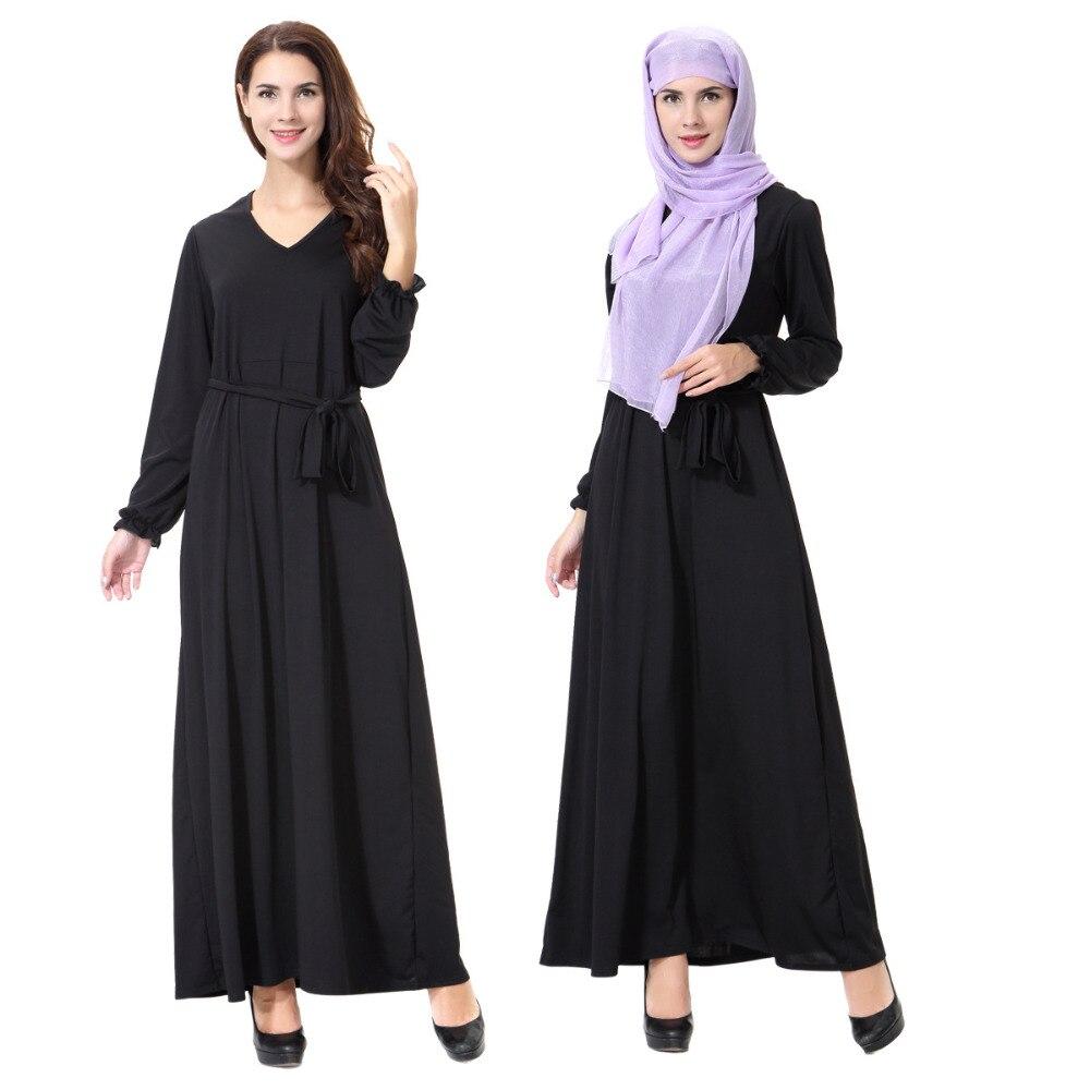 d64485fee8044 Big Discount Muslim dress abaya hijab kaftan Islamic clothes for women  delicate embroidery kaftan long abaya muslim dress blue 55A13FPZ750