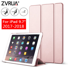 Case for New iPad 9.7 inch 2017 2018, ZVRUA YiPPee Color PU Smart Cover Case Magnet wake up sleep model A1822 A1823 A1893 A1954 цены онлайн
