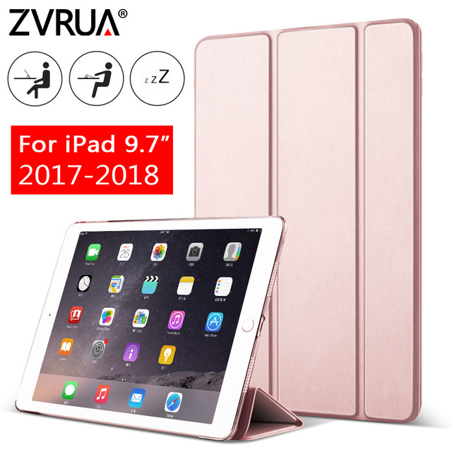 Trường hợp đối với New iPad 9.7 inch 2017 2018, ZVRUA YiPPee Màu PU Thông Minh Bìa Trường Hợp Nam Châm thức dậy mô hình giấc ngủ A1822 A1823 A1893 A1954