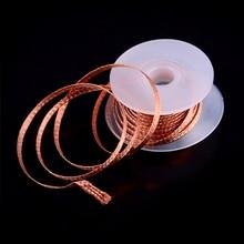 1 шт. медная оплетка для демонтажа BGA припоя для снятия фитиль провод кабель 1,5 м Длина 3,5 мм ширина для поглощения