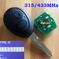 NE75 2 Button Full Remote Key For Land Rover Defender Vehicles Discovery 2 For Range Rover Remote Key Fob 433Mhz 315Mhz 7931Chip