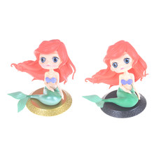 1PC Putri Duyung Kecil Q Posket Karakter PVC Figure Collectible Model Toy Doll 11 Cm(China)