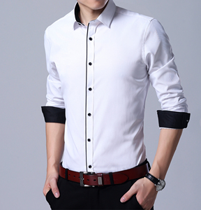 Image 3 - QISHA Mens Camisa do Negócio de Manga Comprida Casuais Inteligentes Sarja Cor Sólida Masculino Camisa Roupas Fino Profissional New Cinza Homem Social