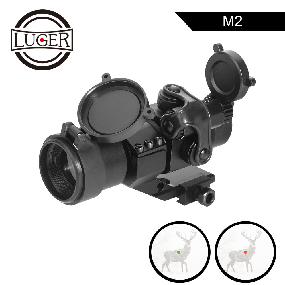 LUGER Holographic Red Dot Sight M2 Hunting Optic Rifle Scopes With 20mm 11mm Rail Mount Collimator Sight Air Gun Hunting-in Riflescopes from Sports & Entertainment