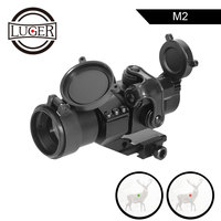 LUGER M2 Hunting Optic Rifle Scope Holographic Red Dot Sight With 20mm 11mm Rail Mount Collimator Sight Sniper Gun Hunting