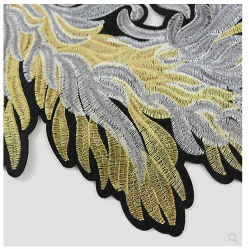 Fashion oversized wings embroidery cloth stickers clothing clothes down sweater pants hole repair Ding decorative cloth in Patches from Home Garden