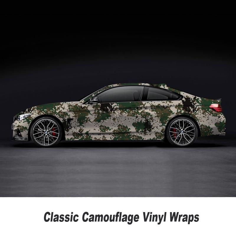 Camouflage Vinyle Wrap Film Auto Autocollant Vinyles Film Camouflage Enveloppe De Voiture pour Voiture Emballage mat brillant Différents types toute taille - 6