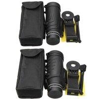 40x60 hd 줌 렌즈 단안 망원경 + 삼각대 + 아이폰에 대한 삼성 클립 xiaomi 화웨이 캠핑 여행 방수 전화 렌즈