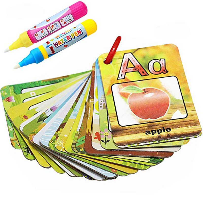 Us 357 30 Offwater Drawing Card English Learning 26 Alphabet Coloring Book Water Painting Board Early Recognize Educational Toys For Kids In