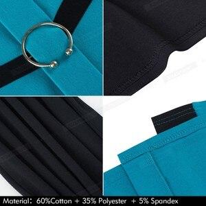 Image 5 - Ładny zawsze elegancki kontrast kolorowy patchwork z pierścieniem pracy vestidos biuro Business Party Bodycon obcisła damska sukienka B539