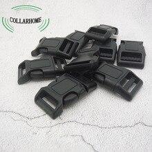 Качество 100 шт/партия изогнутые боковые выпуски пластиковые застежки для 25 мм ремни из ткани DIY Инструменты черные принадлежности для шитья Diy ошейник для собак