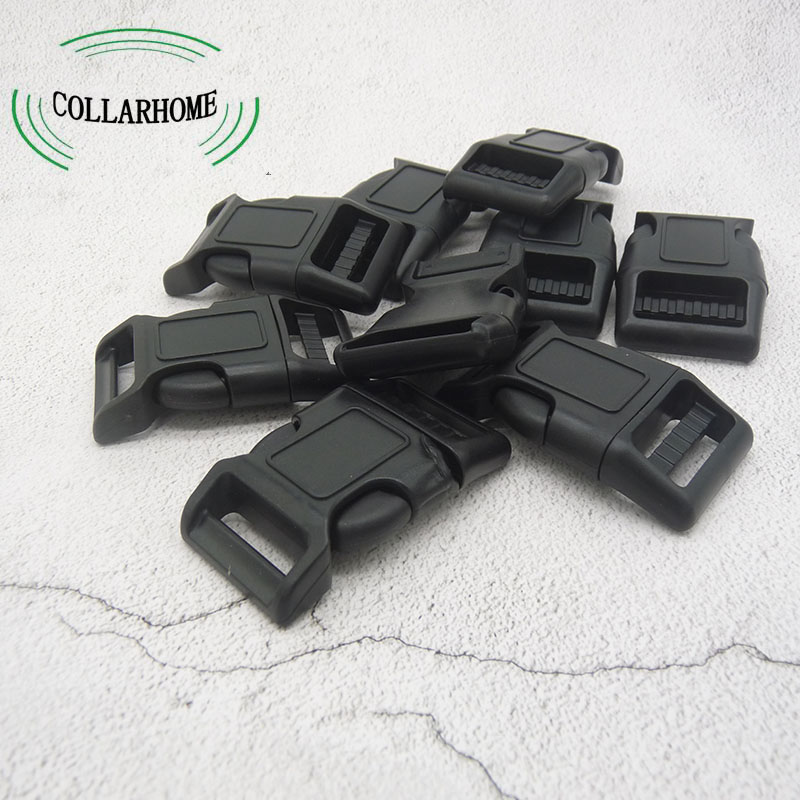 Quality 100Pcs/Lot Curved Side Release Plastic Buckles for 25mm Webbing Straps DIY Tools Black Arts Crafts Sewing Diy Dog Collar