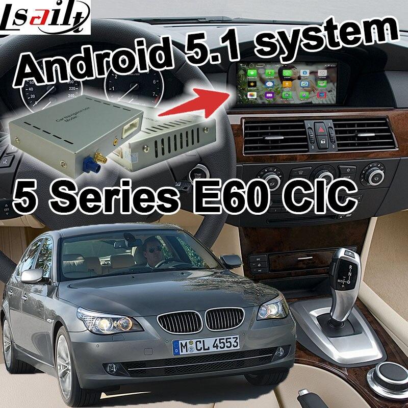 Android 6.0 GPS навигация коробка для BMW <font><b>E60</b></font> 5 серии CIC системы видео интерфейс коробка Зеркало Ссылка YouTube waze МПО яндекс