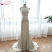Backless Simple Wedding Dresses 2018 Mermaid Soft Satin Bohemian Beach Bridal Gowns Fashion Trend Vestido De Noiva France ZW080