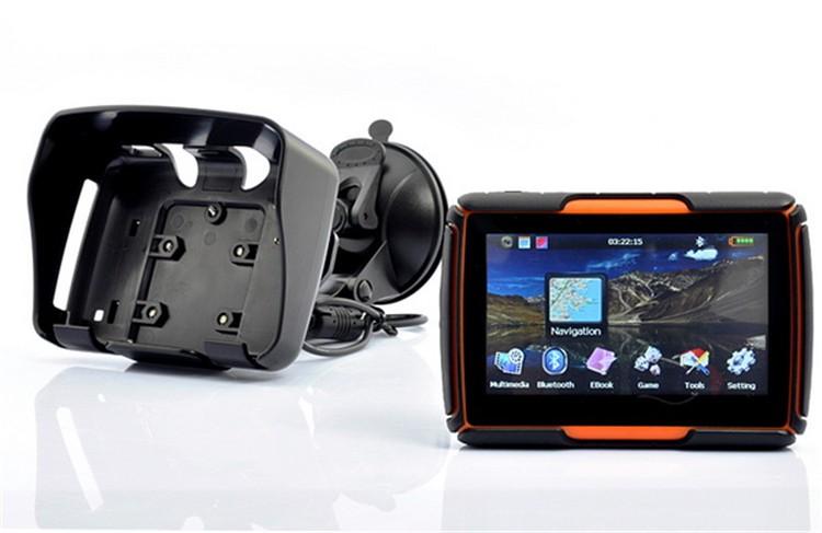 Hot sale 4.3 Inch 8GB 128256 RAM IPX7 Waterproof Moto Bluetooth GPS Navigator for Motorcycle Motorbike Car+Bracket Free Maps (6)