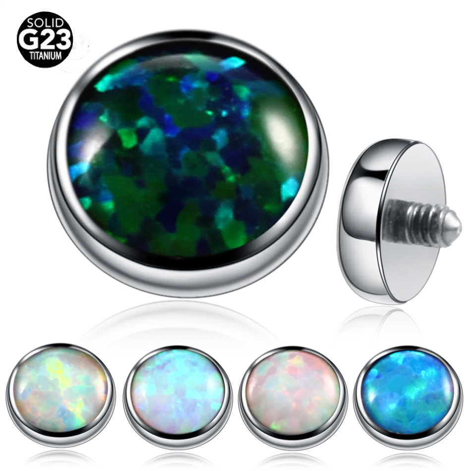 1pc 4mm Tops Opal Stone G23 Titanium Dermal Anchor Piercing Skin Diver Pircing Micro Dermal Body Piercings Jewelry Jewelry Knot G23 Basejewelry Roll Pattern Free Aliexpress