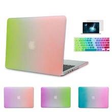 Rainbow Color Gradient Matte Pro 13 15 New 12 inch Retina Case for Apple MacBook Air