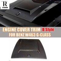 For Brabus Style W463 Carbon Fiber Engine Cover Hood Bonnet Trim For Mercedes Benz W463 G