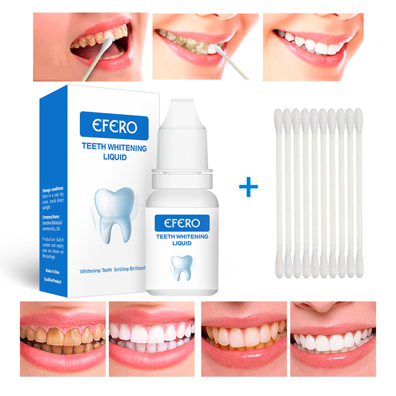 EFERO 1 Set Teeth Whitening Essence Powder Teeth Cleaning Removal Plaque Smoke Stains Tooth Bleaching Dental Care Tools TSLM2