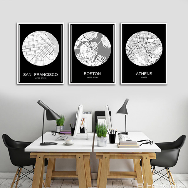 online shop abstract world city map print poster kuala lumpur malaysia print on paper or canvas wall sticker bar cafe living room home decor aliexpress