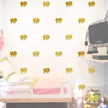 Cartoon Animals Elephant Wall Sticker For Kids Room Home Decoration Nursery Children Bedroom Decor Wall Art все цены