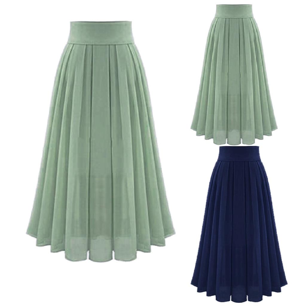 Women's Skirt Skirts faldas jupe femme shein saia harajuku falda Sexy Party Chiffion High Waist Lace-up Hip Long Skirt #50