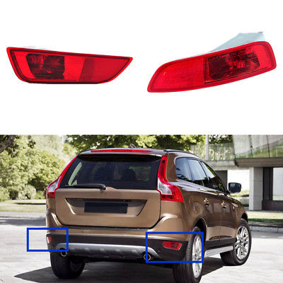 Housing Red Lens Rear Bumper Fog Lamp Lighting For Volvo XC60 2009 2011 2012 2013 2PCS Tail Fog lights Assembly Car Accessories