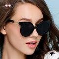 Brand design new lujo de las mujeres gafas de sol 2017 gafas de sol redondas gafas de sol de espejo del estilo del verano uv400 gafas lunette de soleil