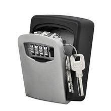 耐久性の収納ロックセキュリティボックスウォールマウントホルダー 4 桁のコンビネーションセーフためホームオフィス cassaforte seguridad