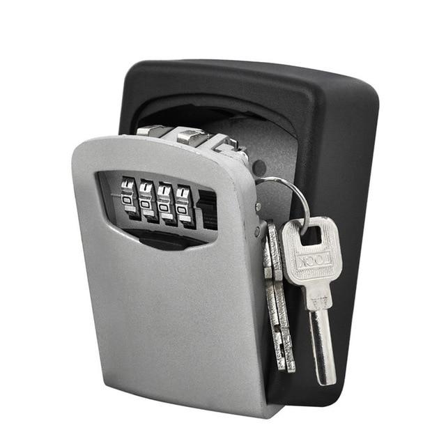 Durável caixa de armazenamento chave segurança bloqueio suporte montagem na parede 4 dígitos combinação organizador seguro para o escritório em casa cassaforte seguridad