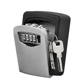 Durable Key Storage Lock Security Box Wall Mount Holder 4 Digit Combination Safe Organizer For Home Office cassaforte seguridad - DISCOUNT ITEM  28% OFF All Category
