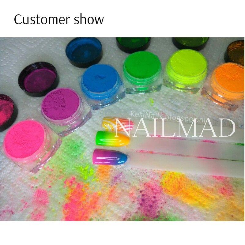 6 colores de Neón Polvo de Pigmento Ombre Pigmentos Pigmentos de ...
