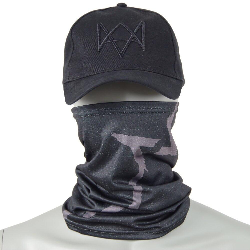 Watch Dogs маска для лица+ шапка Aiden Pearce костюм шарф для косплея Лидер продаж - Цвет: Cap and Mask
