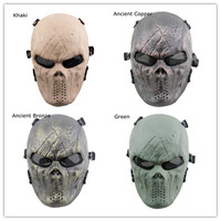 Halloween Phantom Ghost Skull Mask Skeleton Masquerade Cosplay Costumes Outdoor Wargame CS Military Tactical Army of Two Masks