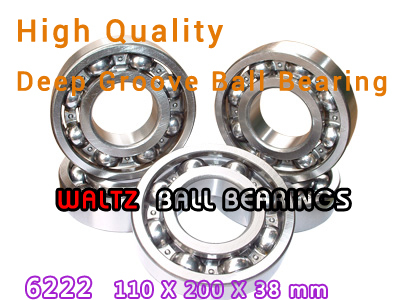 110mm Aperture High Quality Deep Groove Ball Bearing 6222 110x200x38 OPEN Ball Bearing new high quality 4pcs set u groove pulley ball bearing white pom high carbon steel slide flexible ball bearing 6 model choice