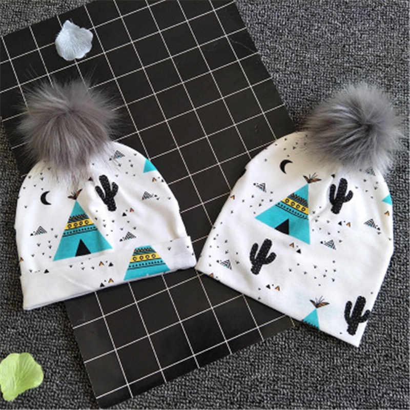 1pc เด็กหมวกหมวกสำหรับสาวสีชมพู pompom เด็กทารกเด็กวัยหัดเดินหมวก bonnet skullies beanies สำหรับเด็กทารกแรกเกิด
