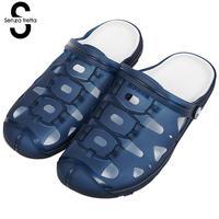 Senza Fretta Summer Men Sandals Người Đàn Ông Ngoài Trời Giày Dép Dép Bãi Biển Thở Dép Nam Rỗng Ra Khỏi Kéo Người Đàn Ông Giày