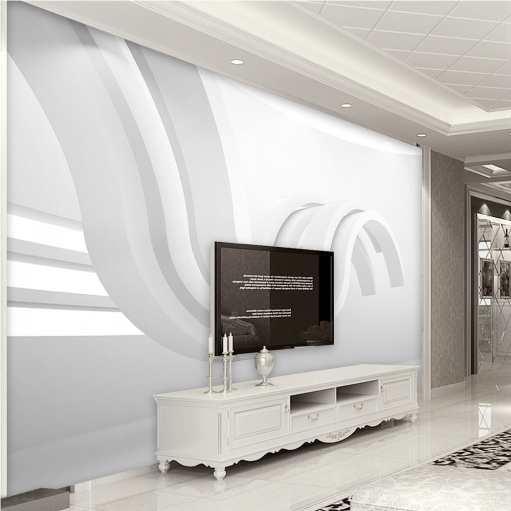 Livraison Gratuite Personnalisé Papier Peint Moderne Minimaliste Géométrique Abstrait Graphique Art 3d Espace Fond Murale Salon Déco